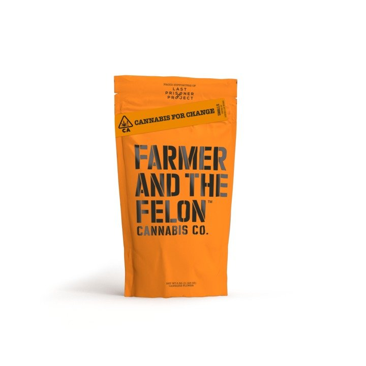 A render of a one eighth bag of Farmer and the Felon Flower